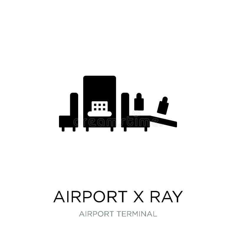 airport x ray machine icon in trendy design style. airport x ray machine icon isolated on white background. airport x ray machine royalty free illustration