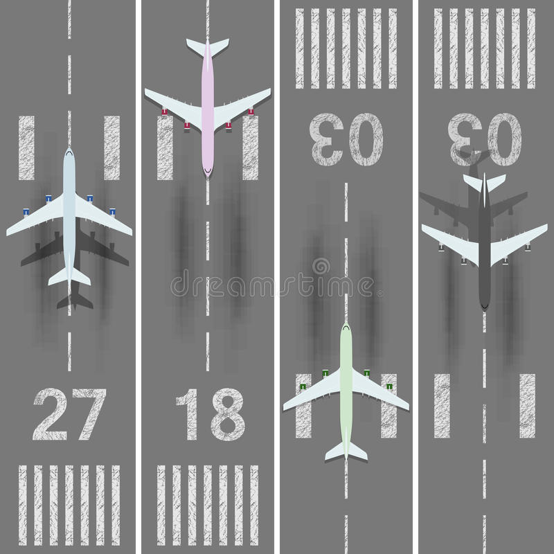 Airport runways set royalty free illustration
