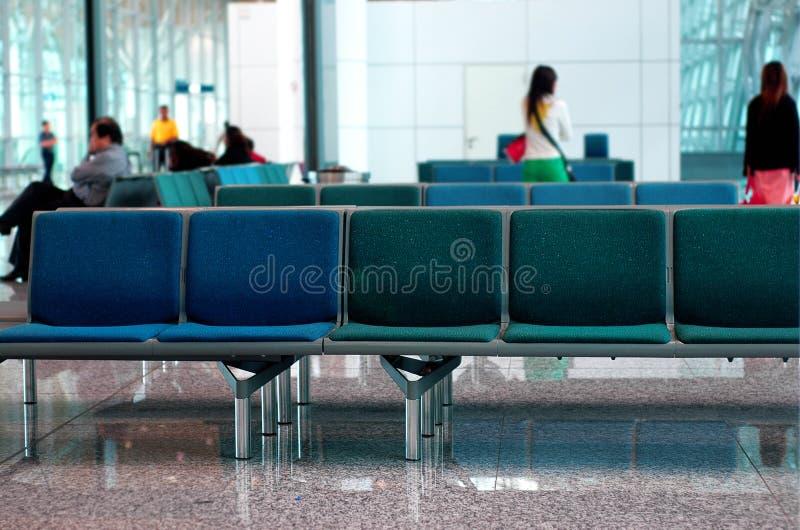 Airport scene stock photo