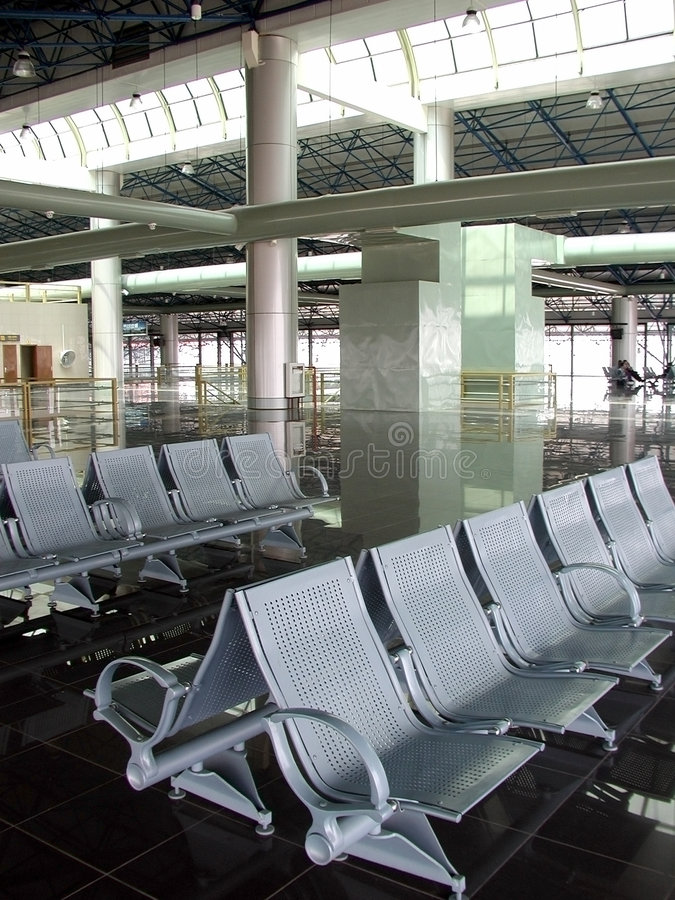 Airport Seating 3 stock images
