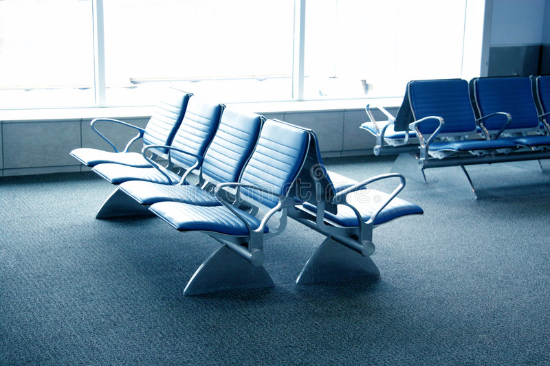 Airport Seating - Airport Term royalty free stock image