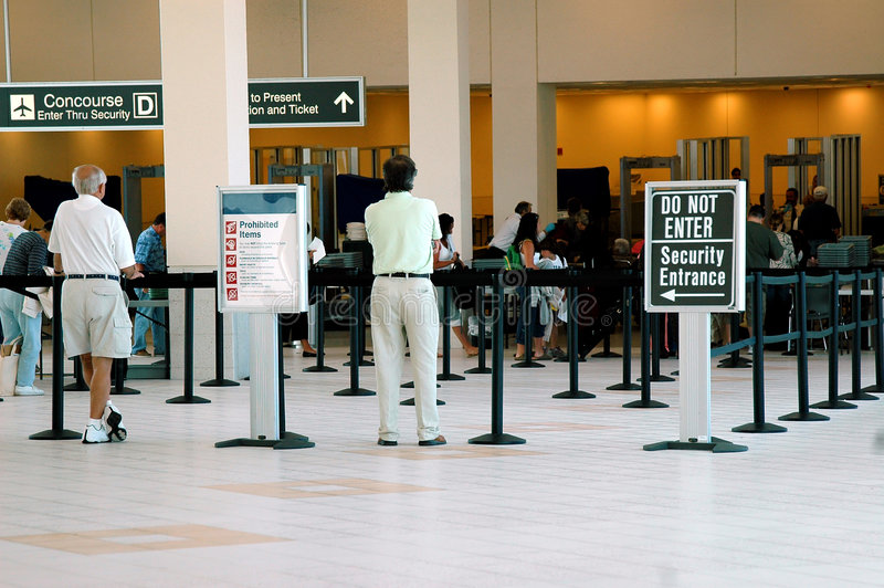 Airport security stock image