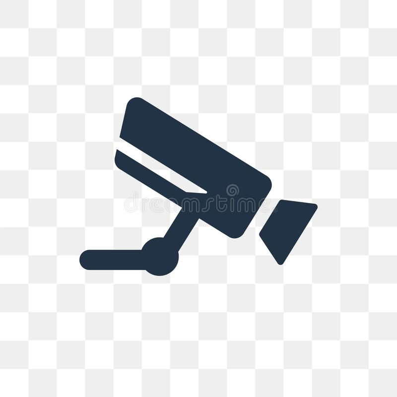 Airport Security Camera vector icon isolated on transparent back royalty free illustration