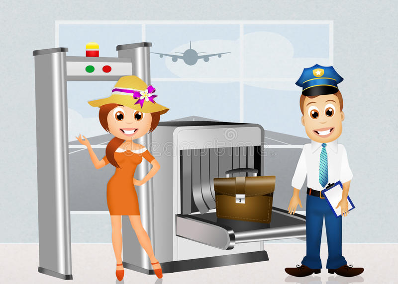 Airport security stock illustration