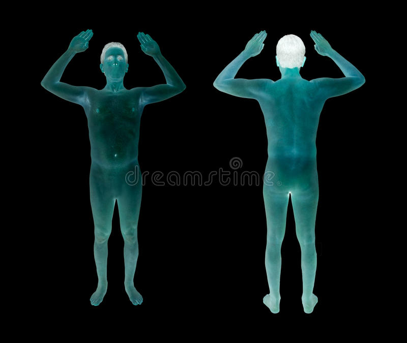 Airport Security TSA Full Body Scan royalty free stock photos