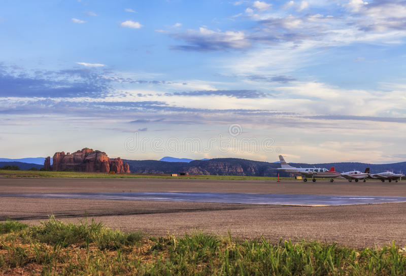 Airport in Sedona, USA royalty free stock photography