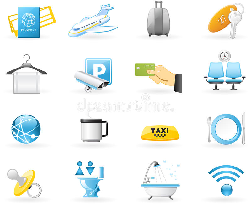 Airport services royalty free illustration