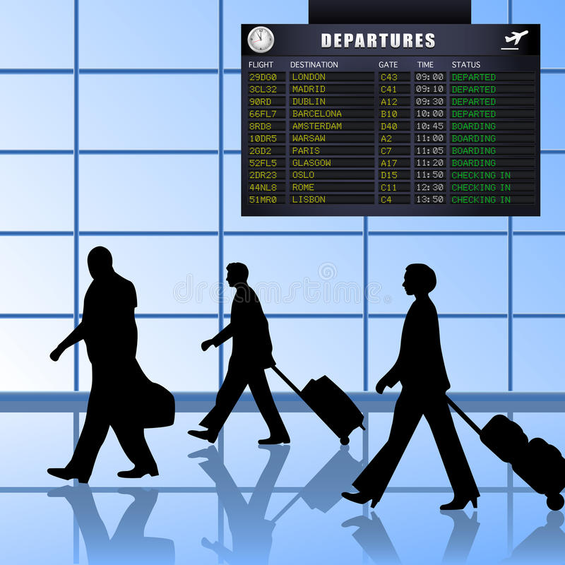 Free Airport - Set 1 - Passengers Departing Stock Images - 14326184