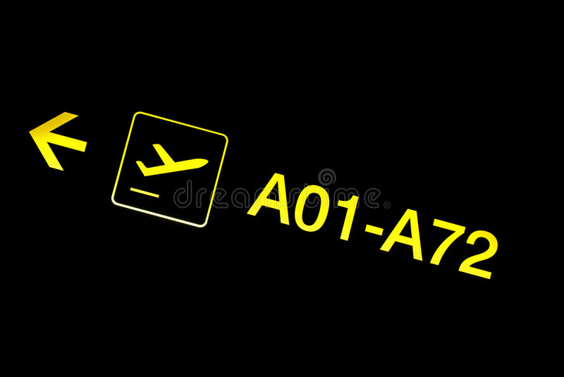 Download Airport sign stock photo. Image of arrow, transport, transportation - 2511784
