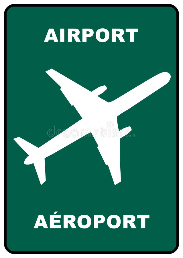 Airport sign royalty free stock photo