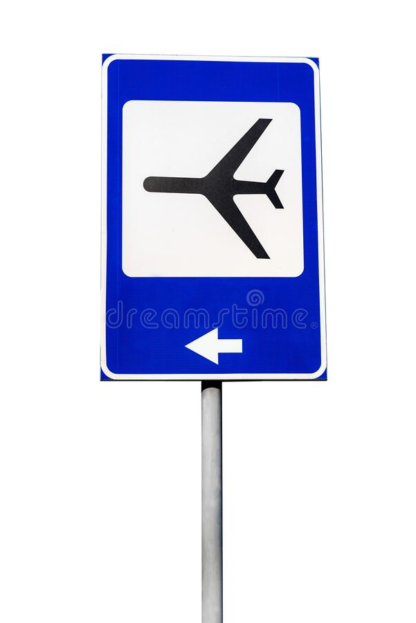 Airport sign on white royalty free stock photos