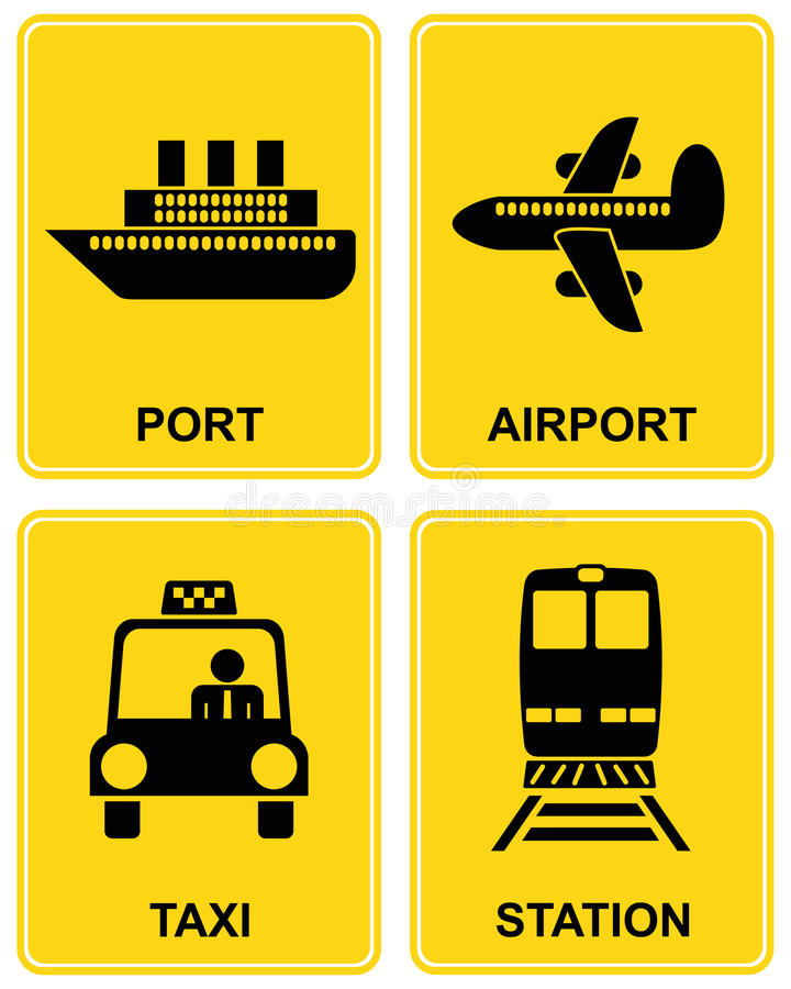 Download Airport, Station, Taxi, Port Stock Vector - Image: 12787966