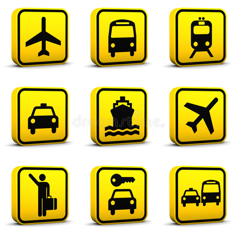 Airport Style Icons Set 01 vector illustration
