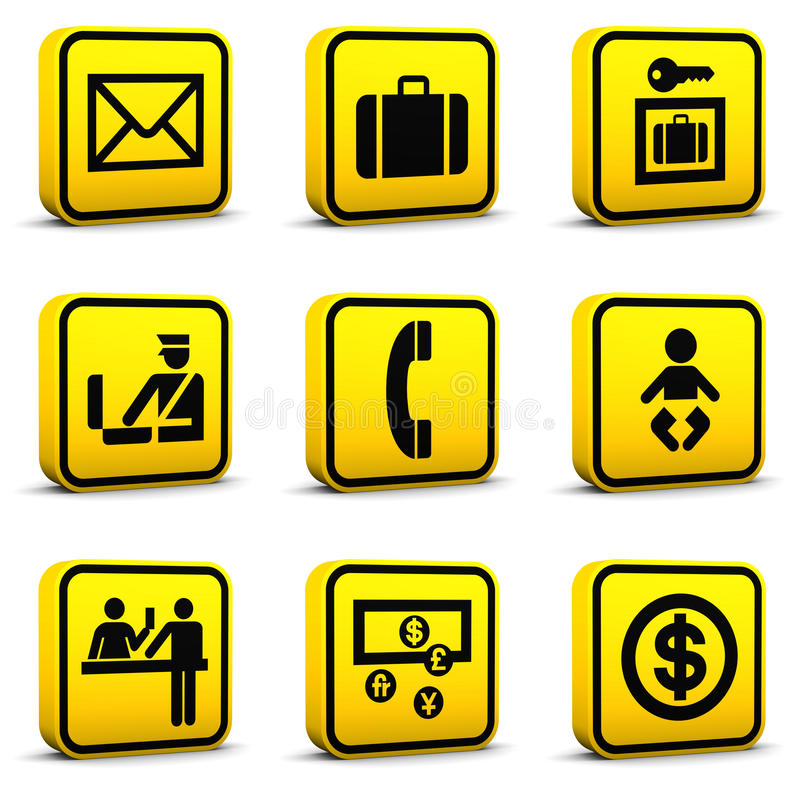 Download Airport Style Icons Set 05 Royalty Free Stock Images - Image: 12153529