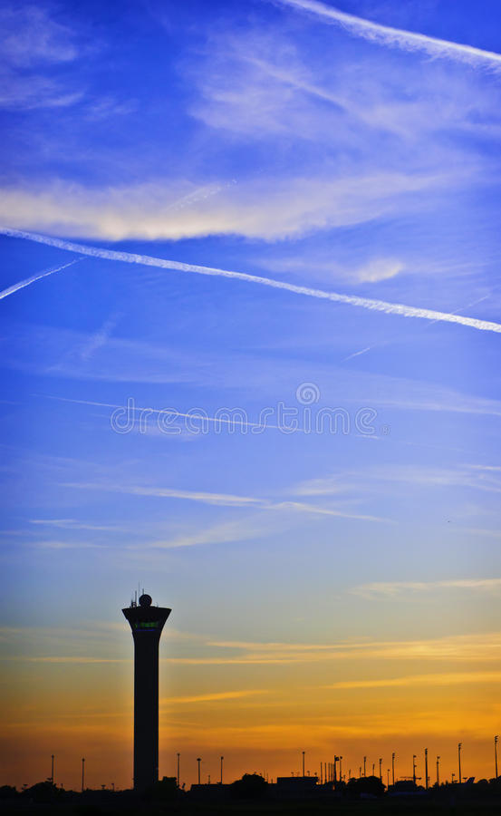 Download Airport Sunset, Paris stock image. Image of airport, sunset - 19562627