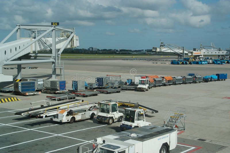 Airport Tarmac. Waiting for planes to arrive royalty free stock photography