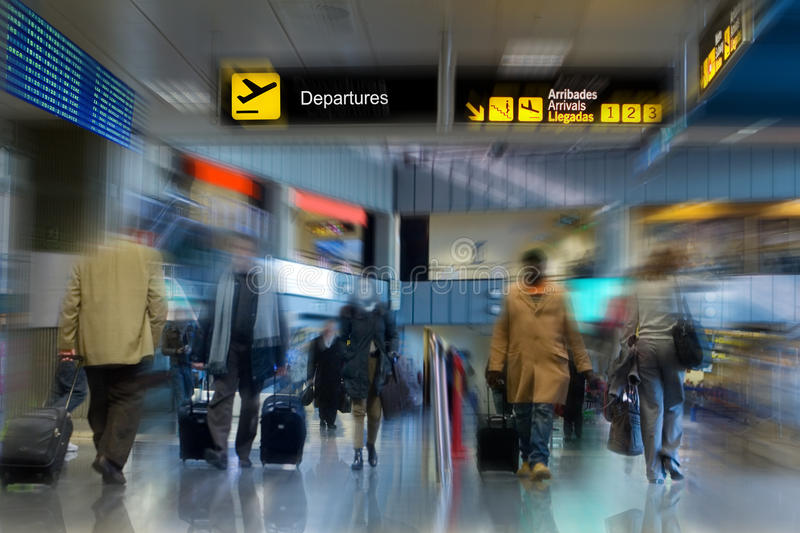 Download Airport Terminal stock image. Image of late, hurry, pink - 12730571