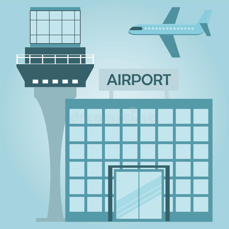 airport terminal design royalty free illustration