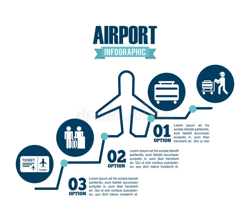 Airport terminal royalty free illustration