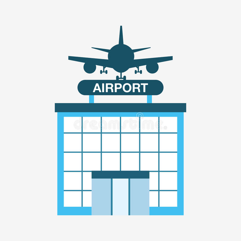 Airport terminal design royalty free illustration