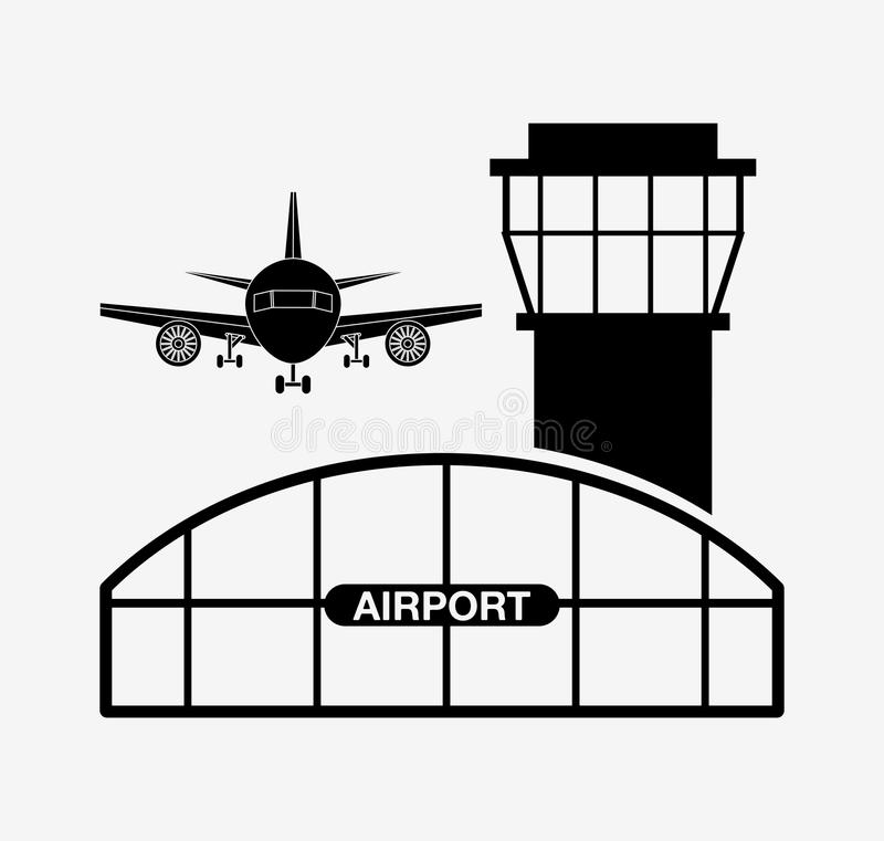 Airport terminal design vector illustration