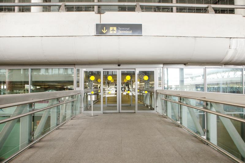 Airport terminal gate entrance royalty free stock image