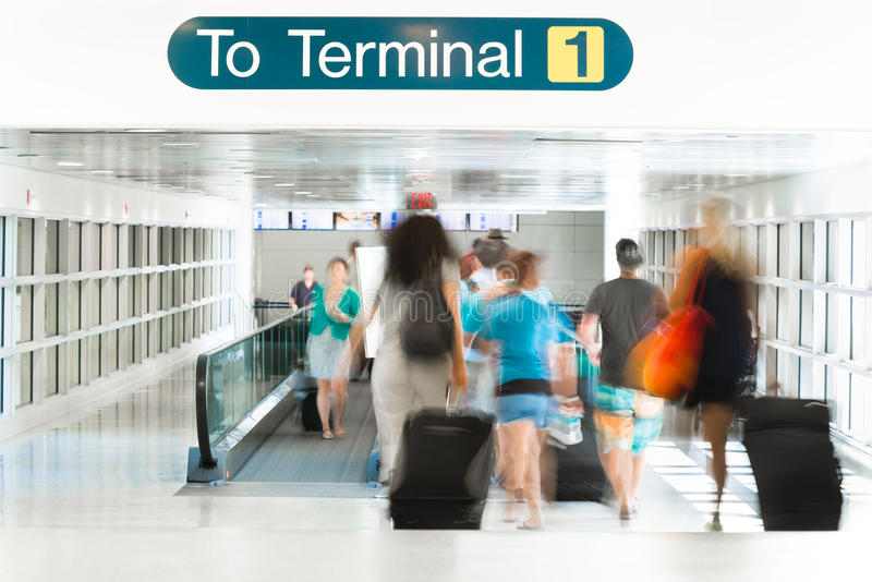 Airport Terminal Interior stock photography