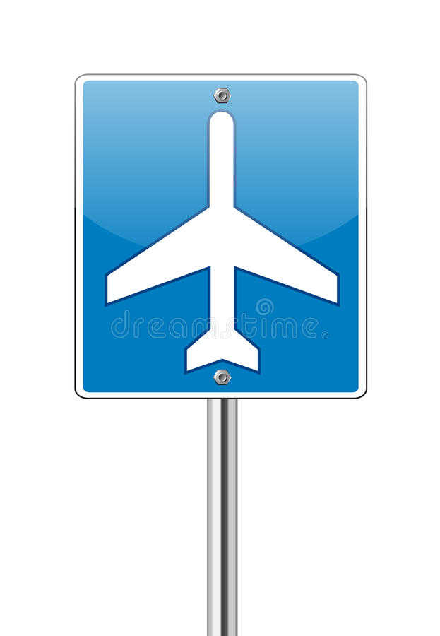 Download Airport Traffic Label Glossy Sign Stock Vector - Illustration of isolated, business: 25808257