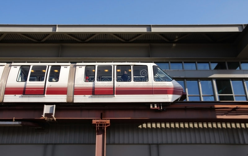 Airport Train Connection stock photos