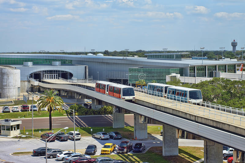 Airport Train Shuttle. Train shuttle at Tampa International Airport royalty free stock photo