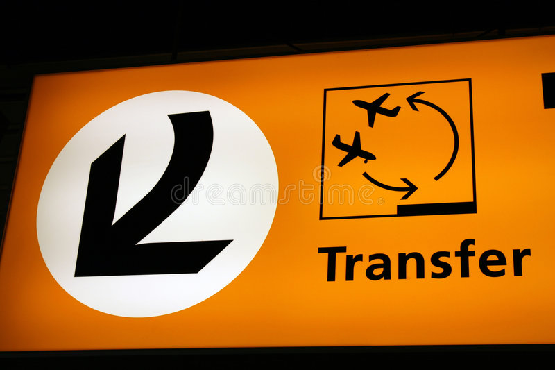 Airport transfer sign royalty free stock images