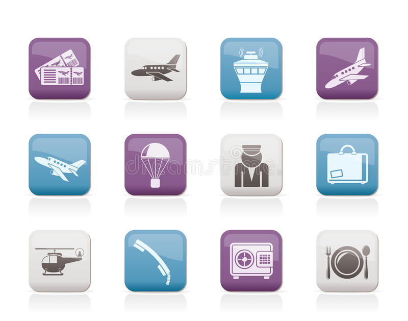 Download Airport and travel icons stock vector. Illustration of plate - 20393247