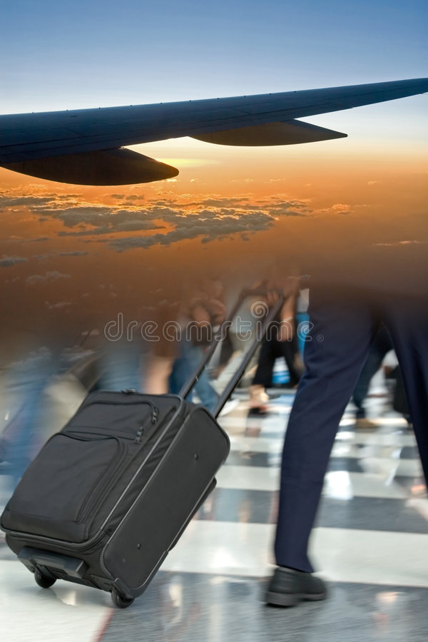 Airport Travel Montage Royalty Free Stock Images