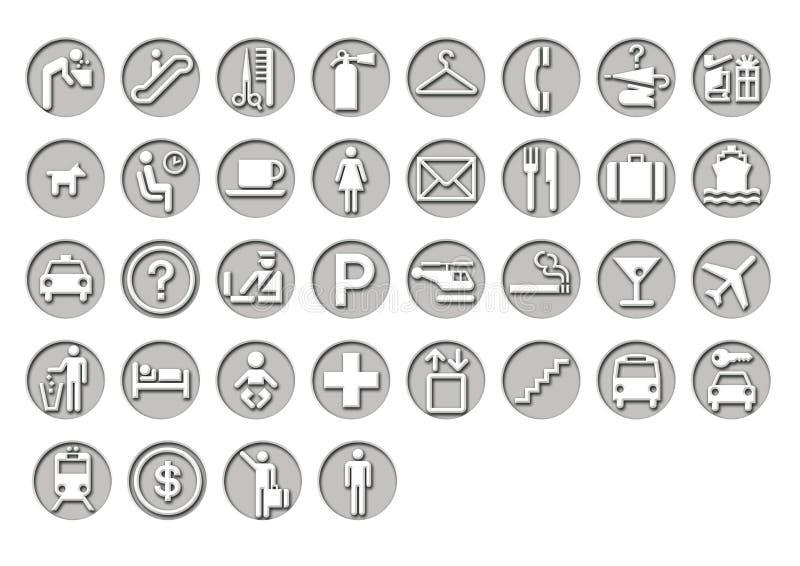 Airport Travel Signage vector illustration
