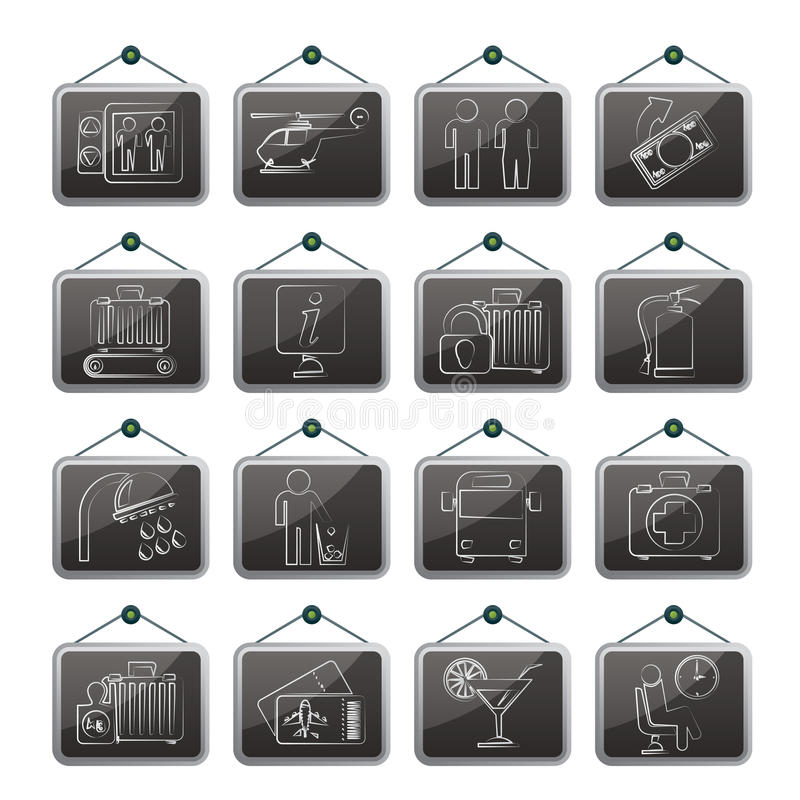 Download Airport, Travel And Transportation Icons Stock Vector - Image: 33225421