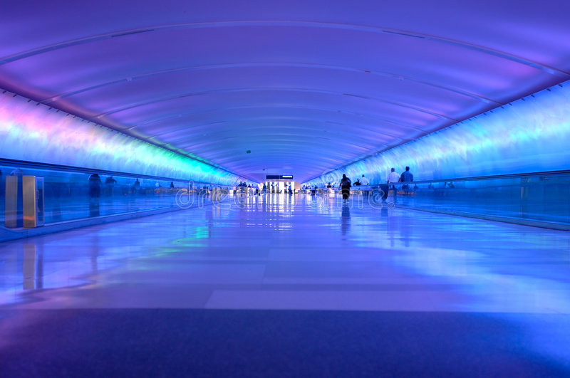 Airport Tunnel stock images