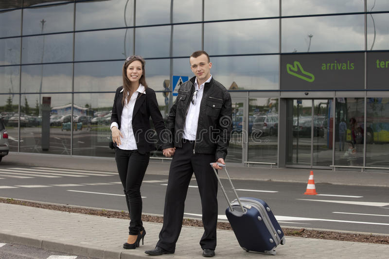 At The Airport Royalty Free Stock Image