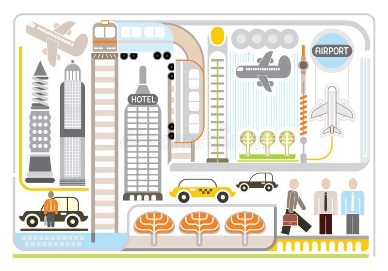 Airport - vector illustartion. Airport - vector illustration. White background stock illustration