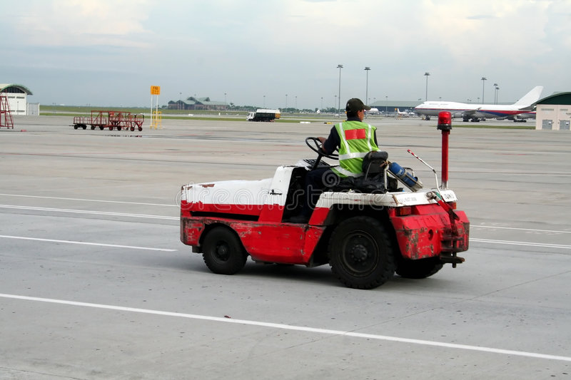 Airport vehicle stock photo