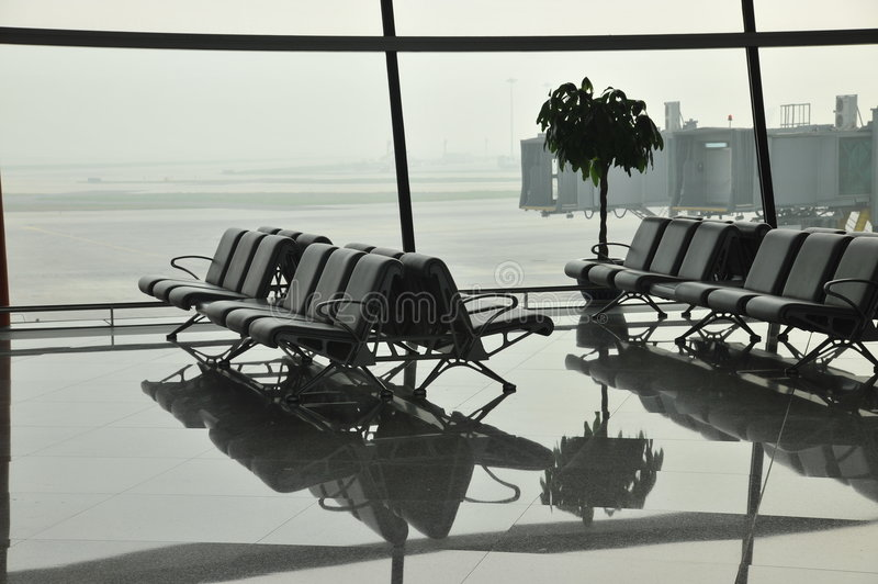 Download Airport waiting area stock photo. Image of seats, empty - 7246834