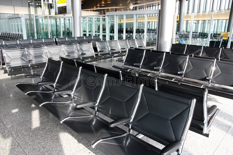 Airport waiting room or lounge royalty free stock photos