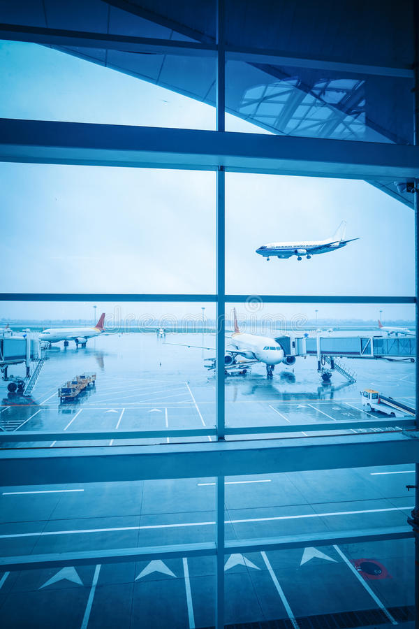 Download Airport Window Outside Scene Stock Image - Image of holiday, city: 27955137