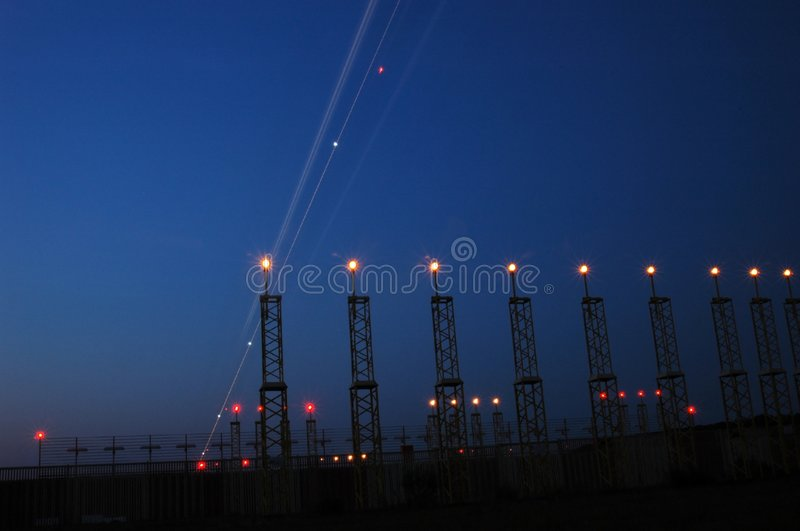 Airportlights royalty free stock photo