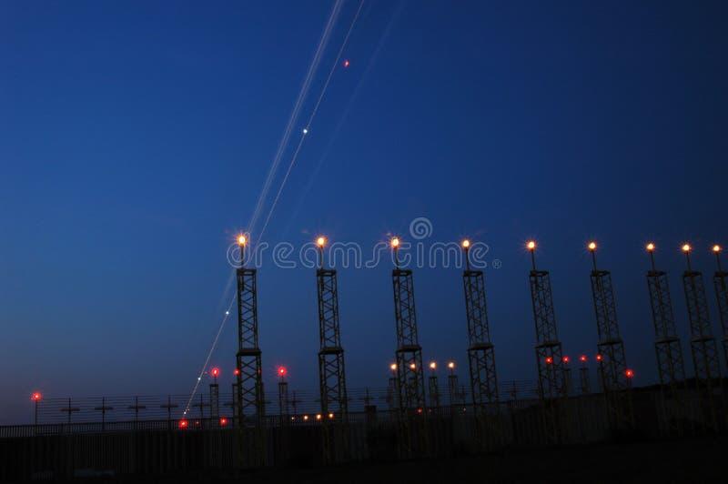 Download Airportlights image stock. Image du aviation, technologie - 734955