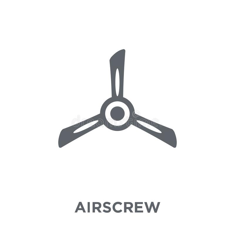 Airscrew icon from Astronomy collection. Airscrew icon. Airscrew design concept from Astronomy collection. Simple element vector illustration on white royalty free illustration