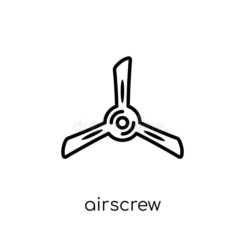 Airscrew icon from Astronomy collection. Airscrew icon. Trendy modern flat linear vector airscrew icon on white background from thin line Astronomy collection vector illustration