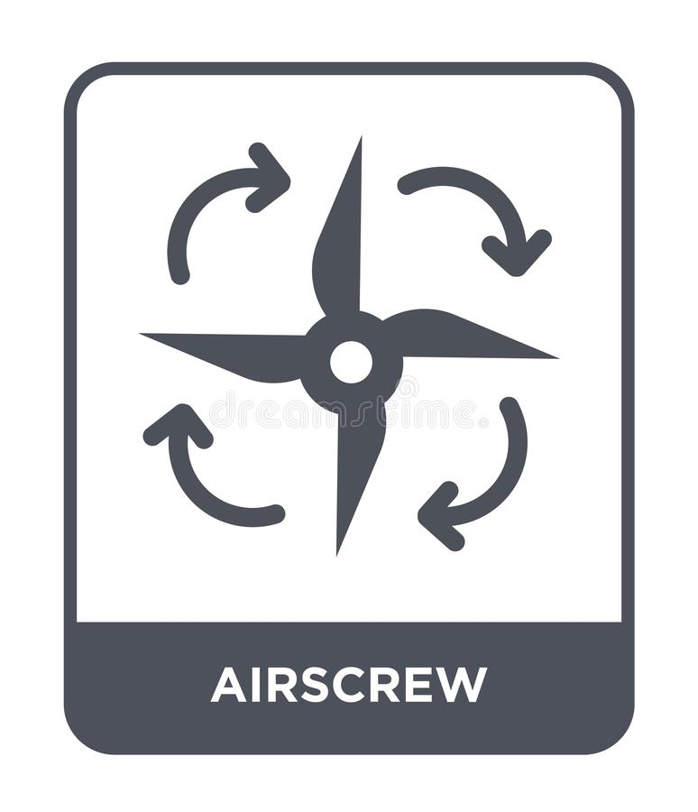 Airscrew icon in trendy design style. airscrew icon isolated on white background. airscrew vector icon simple and modern flat. Symbol for web site, mobile, logo stock illustration