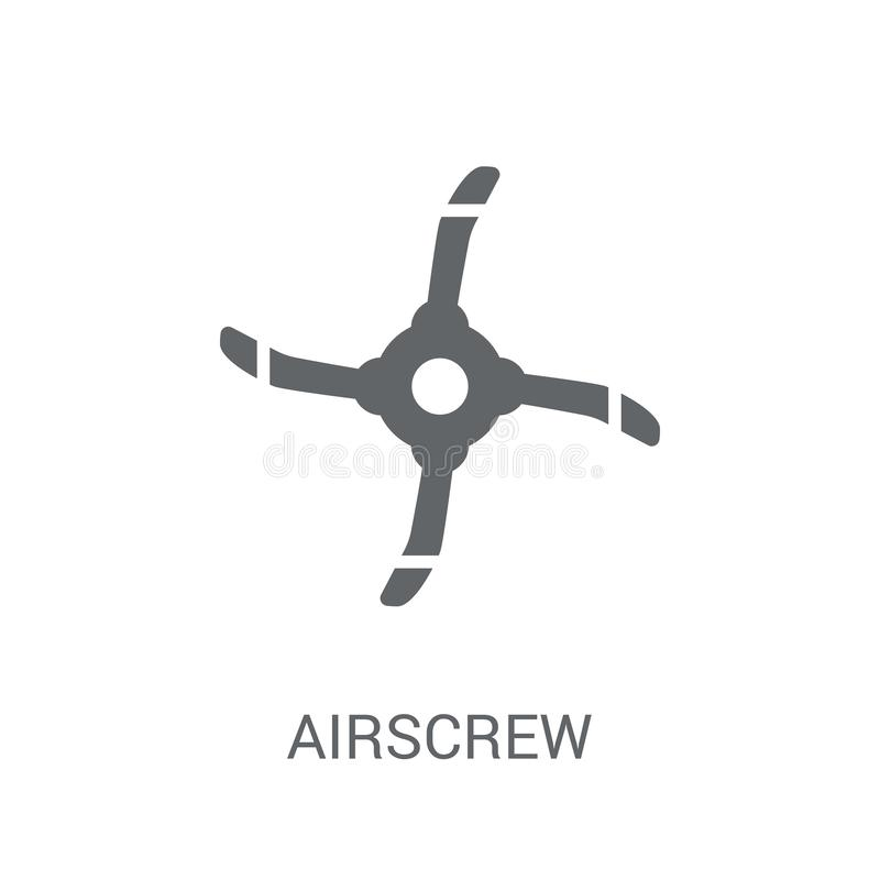 Airscrew icon. Trendy Airscrew logo concept on white background. From Astronomy collection. Suitable for use on web apps, mobile apps and print media vector illustration