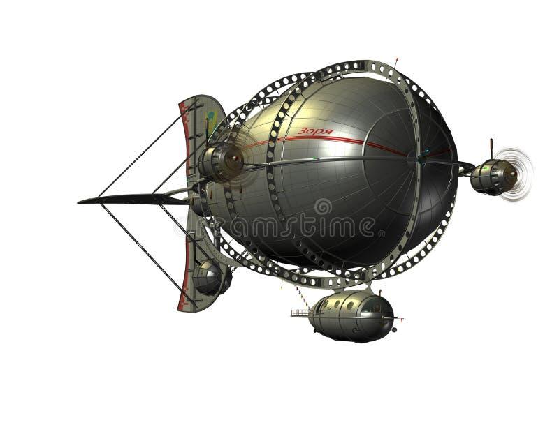 Airship Зеппелина от фронта бесплатная иллюстрация