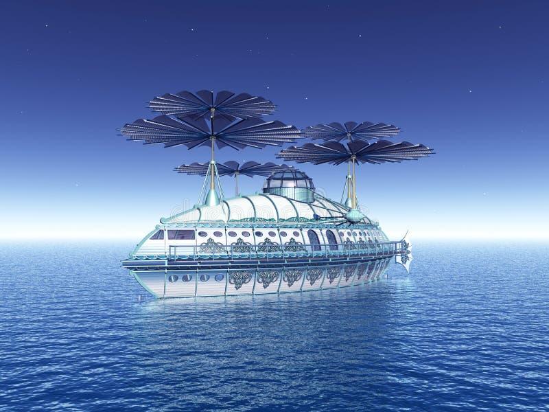 Airship фантазии заплывания иллюстрация штока